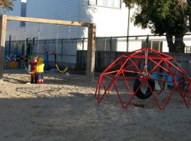 playground swings & jungle gym
